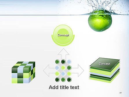 Green Apple Falling Into Water PowerPoint Template Slide 19