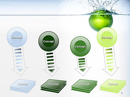 Green Apple Falling Into Water PowerPoint Template Slide 8