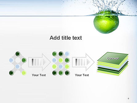 Green Apple Falling Into Water PowerPoint Template Slide 9