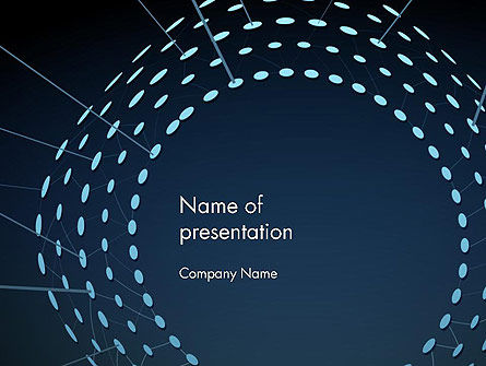 Circle Of Sparkling Glitter Abstract PowerPoint Template, 14138, Abstract/Textures — PoweredTemplate.com