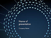 Abstract/Textures: Circle Of Sparkling Glitter Abstract PowerPoint Template #14138