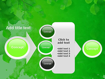 Watercolor Spot with Green Leaves PowerPoint Template Slide 17