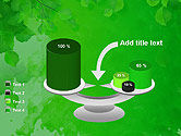 Watercolor Spot with Green Leaves PowerPoint Template#10