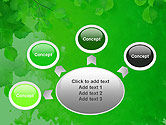 Watercolor Spot with Green Leaves PowerPoint Template#7