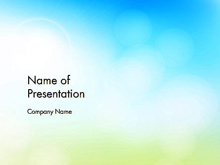 Nature & Environment: Glittering Sky Abstract PowerPoint Template #14141