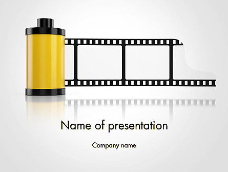 Careers/Industry: Camera Film Roll PowerPoint Template #14143