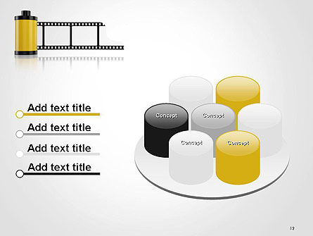 Camera Film Roll PowerPoint Template Slide 12