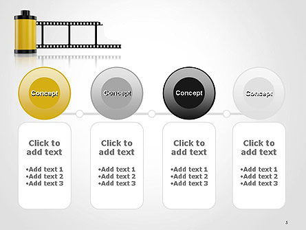 Camera Film Roll PowerPoint Template Slide 5
