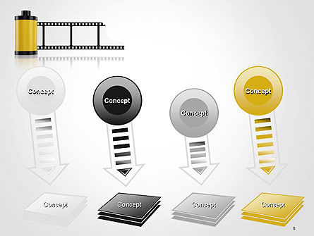 Camera Film Roll PowerPoint Template Slide 8
