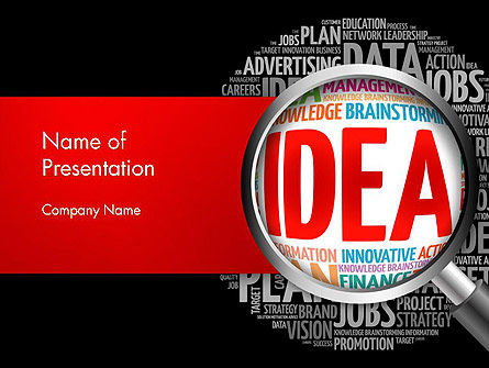 Ideation and Analysis PowerPoint Template, 14144, Business Concepts — PoweredTemplate.com