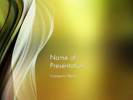 Smooth and Blur PowerPoint Template, 14145, Abstract/Textures — PoweredTemplate.com