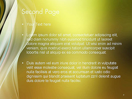 Smooth and Blur PowerPoint Template, Slide 2, 14145, Abstract/Textures — PoweredTemplate.com