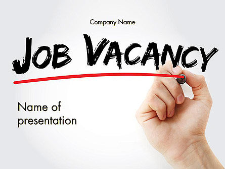 Job Vacancy PowerPoint Template, 14146, Careers/Industry — PoweredTemplate.com