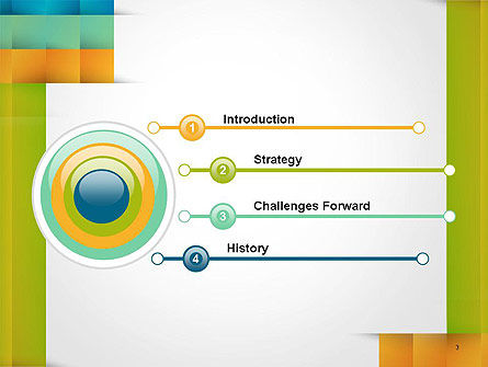 Shades of Colors Abstract PowerPoint Template Slide 3
