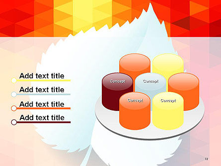 Paper Leaf on Orange Background PowerPoint Template Slide 12