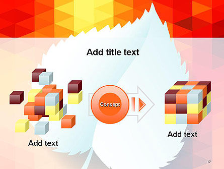 Paper Leaf on Orange Background PowerPoint Template Slide 17