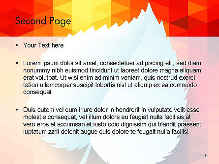 Paper Leaf on Orange Background PowerPoint Template Slide 2