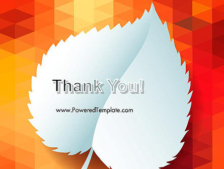 Paper Leaf on Orange Background PowerPoint Template Slide 20