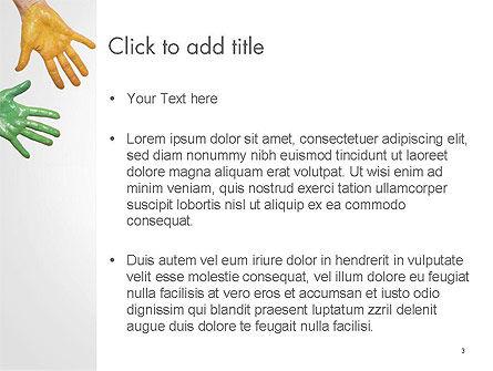 Painted Hands PowerPoint Template, Slide 3, 14149, Art & Entertainment — PoweredTemplate.com