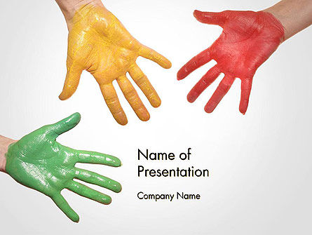 Painted Hands PowerPoint Template