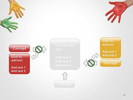 Painted Hands PowerPoint Template Slide 13
