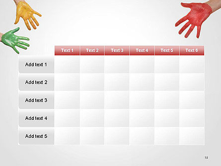Painted Hands PowerPoint Template Slide 15