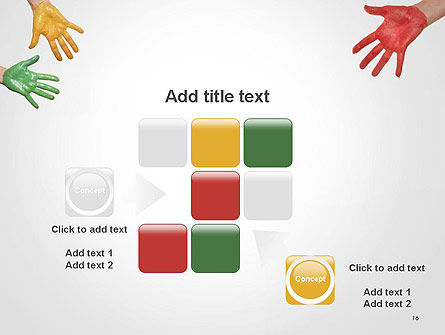 Painted Hands PowerPoint Template Slide 16