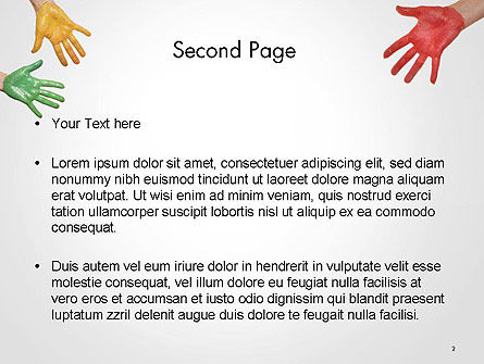 Painted Hands PowerPoint Template Slide 2