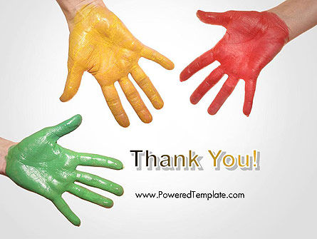 Painted Hands PowerPoint Template Slide 20