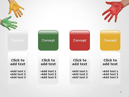 Painted Hands PowerPoint Template Slide 5