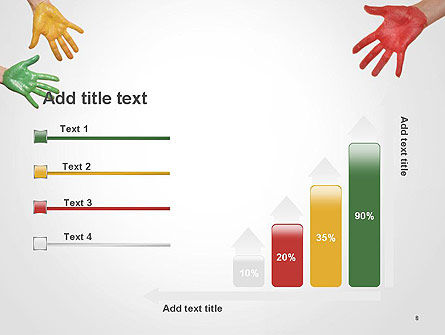 Painted Hands PowerPoint Template Slide 8