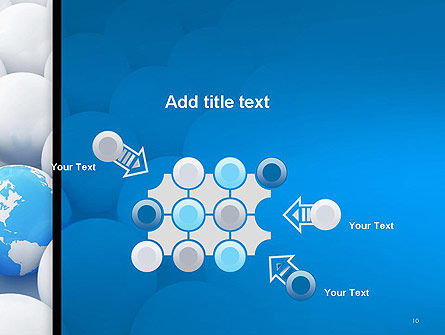 Globe in Among White Balls PowerPoint Template Slide 10