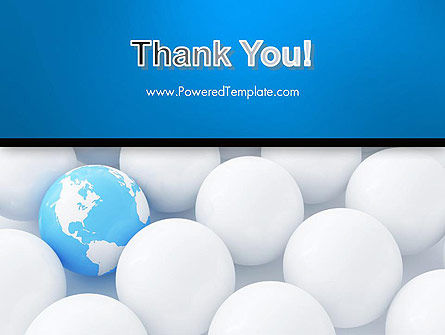 Globe in Among White Balls PowerPoint Template Slide 20