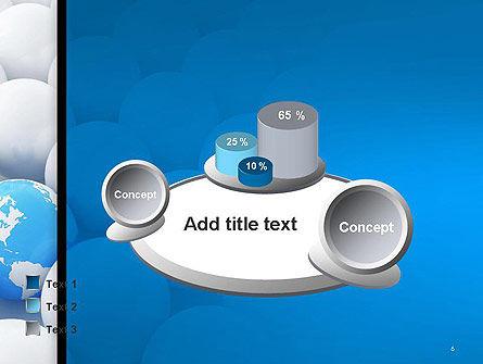 Globe in Among White Balls PowerPoint Template Slide 6