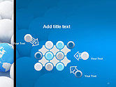 Globe in Among White Balls PowerPoint Template#10