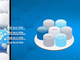 Globe in Among White Balls PowerPoint Template#12
