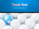 Globe in Among White Balls PowerPoint Template#20