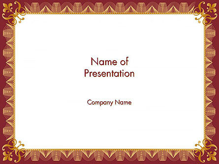 Certificate of Achievement Frame PowerPoint Template
