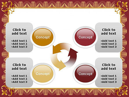 Certificate of Achievement Frame PowerPoint Template Slide 9