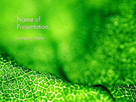 Nature & Environment: Green Leaf Texture PowerPoint Template #14155