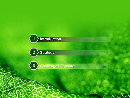 Green Leaf Texture PowerPoint Template, Slide 3, 14155, Nature & Environment — PoweredTemplate.com