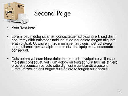 Delivery Van PowerPoint Template Slide 2