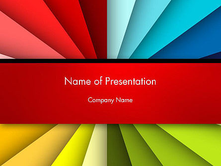 Art & Entertainment: Colored Ribbons Converging to One Point PowerPoint Template #14157