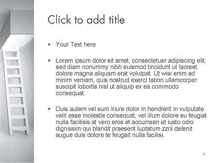 Ladder Upwards PowerPoint Template, Slide 3, 14158, Careers/Industry — PoweredTemplate.com