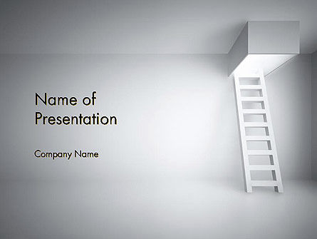 Ladder Upwards PowerPoint Template, 14158, Careers/Industry — PoweredTemplate.com