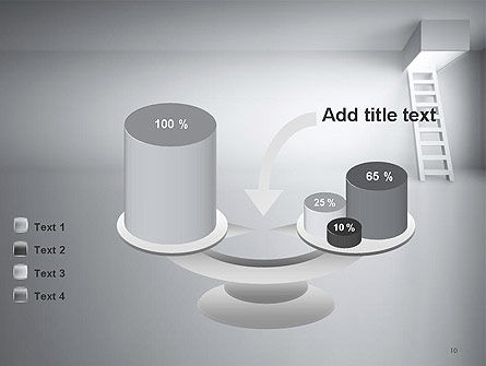 Ladder Upwards PowerPoint Template Slide 10