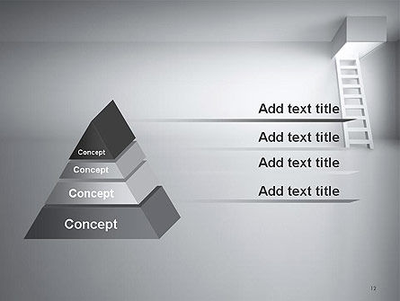 Ladder Upwards PowerPoint Template Slide 12