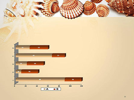 Sea Shells and Blank Frame PowerPoint Template Slide 11