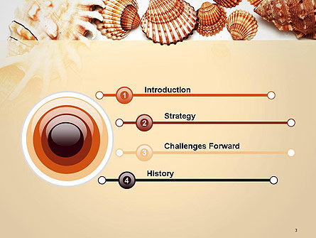 Sea Shells and Blank Frame PowerPoint Template, Slide 3, 14159, Careers/Industry — PoweredTemplate.com