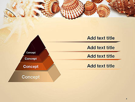 Sea Shells and Blank Frame PowerPoint Template, Slide 4, 14159, Careers/Industry — PoweredTemplate.com